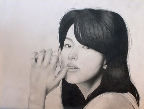 Graphite Portrait by CherryTokyo
