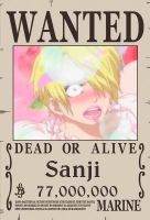 Sanji's New Wanted Poster by sturmsoldat1