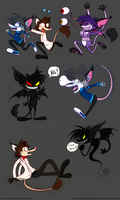 Scaring off Zack and Alex by MeckelFoxStudio