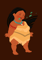 hungry princess - pocahontas by kaffepanna