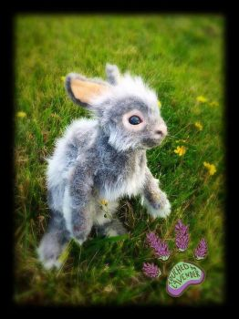 TouchedbyLavender RECYCLED bunny by TouchedbyLavender