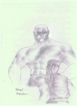 Street Fighter Ryu vs Sagat Face to Face by TheBPhantomKing