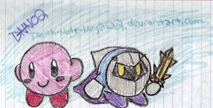 Kirby and Meta Knight... by Death-Note-Ninja02