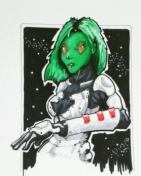 Gamora Colored by ravenclawtom