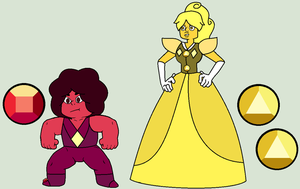SU Adopt - Yellow Sapphire And Her Ruby (Closed) by The-Panda-Lover