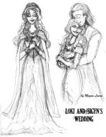 Loki and Sigyn's Wedding Sketchdump by MademoiselleMeg
