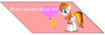 Free Commission-Rosie Sievers/Rose Pal Fan Button by Zecter-the-Hedgehog