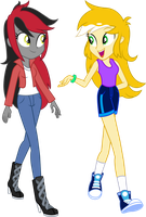 Point Commission: OC Calvia and Shona by ImperfectXIII