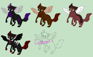 Winged Fox Adoptables::open:: by Silhouett3s