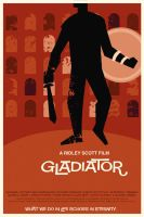 Gladiator film poster by rodolforever