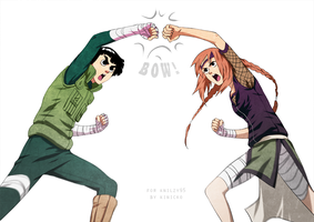 Commissoin Rock Lee and Yuna by Kinicko