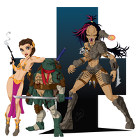 FemPred with Leo and Leia by channandeller