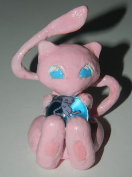 Mew with marble by PaintedNicole