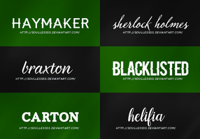 Font Pack 1 by soullessss