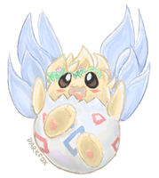 [Fanart] Fairy Togepi! by DarkFoxProductions