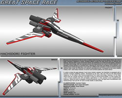 Great Space Race - Hachidori Fighter by TurinuZ