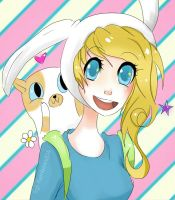 Fionna and Cake! by Sgt-Rainbows