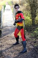 Tim Drake's Robin (Red And Black Costume) by joker99xdraven