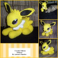 Crochet Jolteon by ArtisansShadow