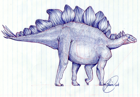 Stegosaurus Sketch by Ilovedragons1
