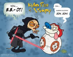 Kylo Ren and Simpy by StudioBueno