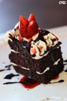 Strawberry Chocolate Moist Cake by CeppyxDPhotography