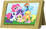Mane Six Picture Frame by cartoonfan22