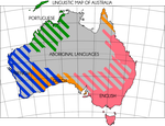 Linguistic Map of Australia by IntrepidTee