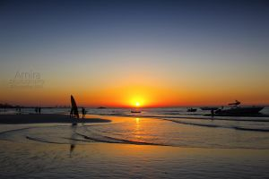 surfers and sunset in Jumeirah new edition by amirajuli