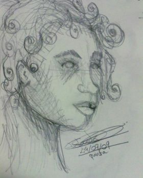 Ferry Boat sketches: woman I by charuli