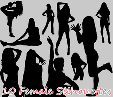 10 Female Silhouettes by sara1elo