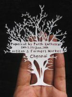 Papercut Tree - Chennai by ParthKothekar