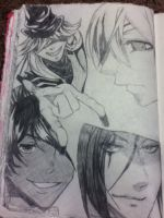 Black Butler - Character Sketches by 101fragiledreams