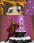 the sword in the stone by Heom