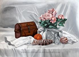 Still life in acrylic by La-Sara