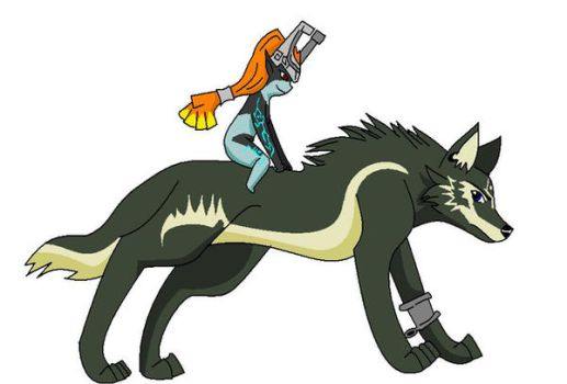Wolf Link and Midna by Lavakitties