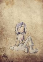 Lonely girl by nabey