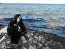 By the water in the summer 1 (Edited) by Delyandir