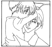 Kyo and Kazuma Sohma B and W-2 by kittenangel116