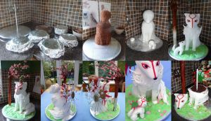 Okami Stages by ginas-cakes
