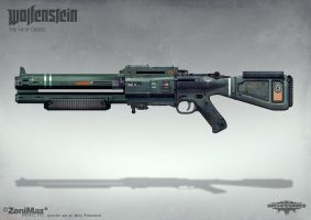 Wolfenstein: The New Order - Automatic Shotgun by torvenius