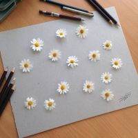 Real Flower illusion drawing by AtomiccircuS