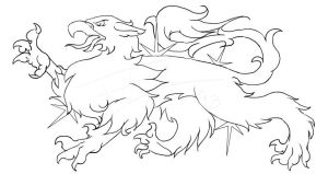 RR - Male Gryphon Heraldry by RoninReaver