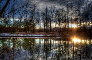 Sun Down's Reflection HDR by joelht74