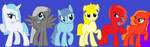 Groupshot of OC's by hawkstar53