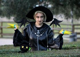 Halloween Town Larxene cosplay with wings by Nko-ennekappao