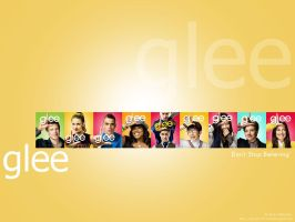 Yellow Glee Wallpaper by dgraphicrookie