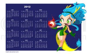 2012 Dragon Girl Wall by mashi