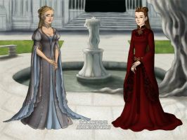 Seven of Nine and Janeway Lord of the Rings Style by spindrift112