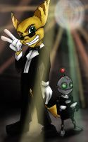 Lombax and Robot in Tuxedos by LadySokolov